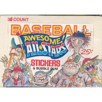 Baseball Awesome All-Stars Wax Box (1988 Donruss)