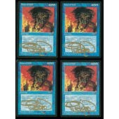 Magic the Gathering Alliances PLAYSET 4x Force of Will (Signed by Artist) - SLIGHT PLAY (SP)