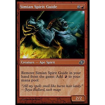 Magic the Gathering Planar Chaos Single Simian Spirit Guide FOIL - MODERATE PLAY (MP)
