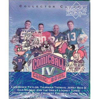 1992 Upper Deck Comic Ball Series 4 Football Hobby Box (Reed Buy)
