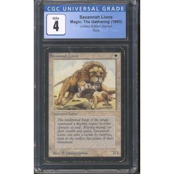 Magic the Gathering Alpha Savannah Lions CGC 4
