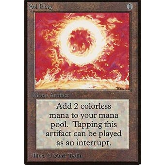 Magic the Gathering Beta Single Sol Ring - MODERATE PLAY plus (MP+)