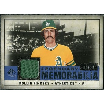 2008 Upper Deck SP Legendary Cuts Legendary Memorabilia Dark Blue #RF Rollie Fingers 9/10