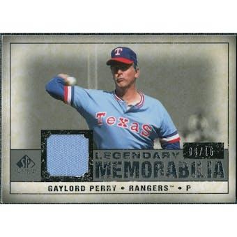 2008 Upper Deck SP Legendary Cuts Legendary Memorabilia Gray #GP2 Gaylord Perry /15