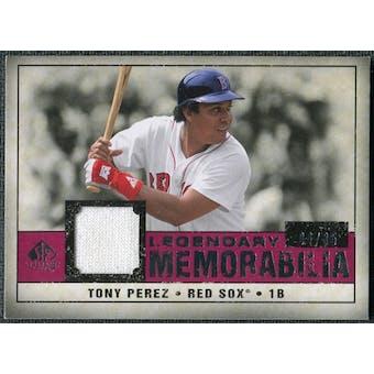 2008 Upper Deck SP Legendary Cuts Legendary Memorabilia Red #TP2 Tony Perez /35