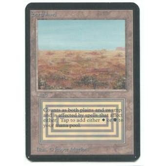 Magic the Gathering Alpha Single Scrubland - SLIGHT PLAY (SP)