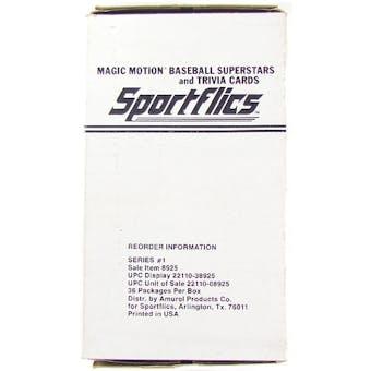 1986 Sportflics Baseball Wax Box