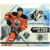 2018/19 Upper Deck SPx Hockey Hobby Box