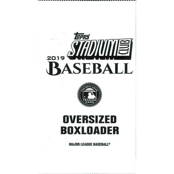 2019 Topps Stadium Club Baseball Oversized Boxloader Topper Pack
