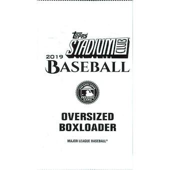2019 Topps Stadium Club Baseball Oversized Boxloader Topper Pack