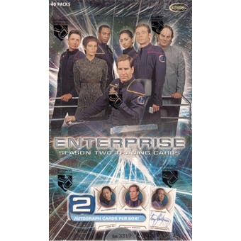 Star Trek Enterprise Season 2 Trading Cards Box (Rittenhouse 2003)