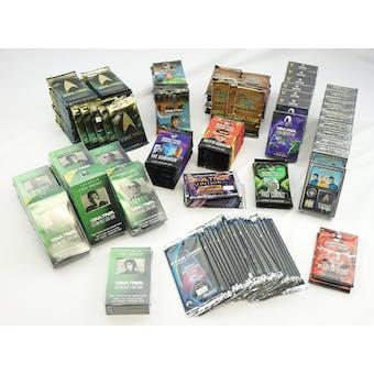 STAR TREK CCG PACK & DECK LOT - 206 TOTAL ITEMS!! (Reed Buy)