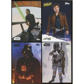 Star Wars NCC Exclusive 4-Card Set Vader/Skywalker/Solo/Fett (Topps 2018)