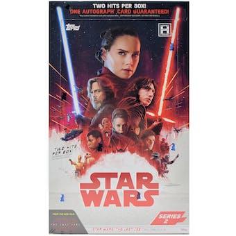 Star Wars The Last Jedi Series 2 Hobby Box (Topps 2018)