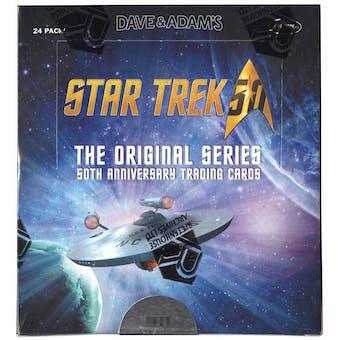 Star Trek The Original Series 50th Anniversary Trading Cards Box (Rittenhouse 2016)