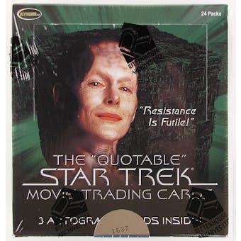 Star Trek Quotable Movie Trading Cards Box (Rittenhouse 2010)
