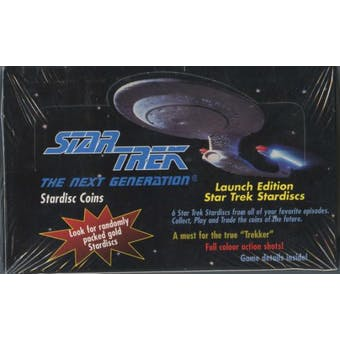 1994 TNG Star Trek Stardisc Coins Box