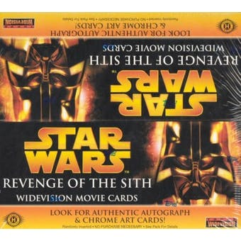 Star Wars Episode III Revenge of the Sith Widevision Hobby Box (2005 Topps)