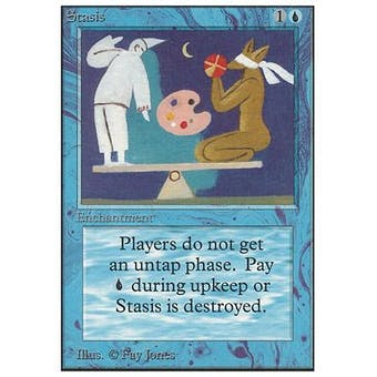 Magic the Gathering Unlimited Single Stasis - MODERATE PLAY (MP)
