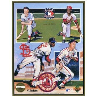 1992 Upper Deck St. Louis Cardinals 100th Anniversary Commemorative Sheet Sample Lot of 10