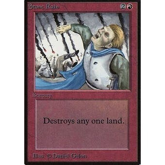 Magic the Gathering Alpha Single Stone Rain - MODERATE PLAY (MP)