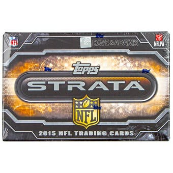2015 Topps Strata Football Hobby Box
