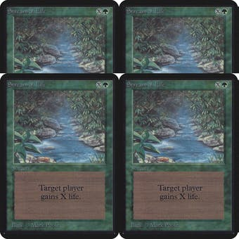 Magic the Gathering Alpha PLAYSET Stream of Life - 4x SLIGHT PLAY (SP)