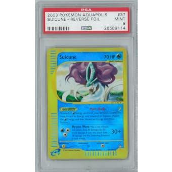 Pokemon Aquapolis Suicune 37/147 Reverse Foil PSA 9