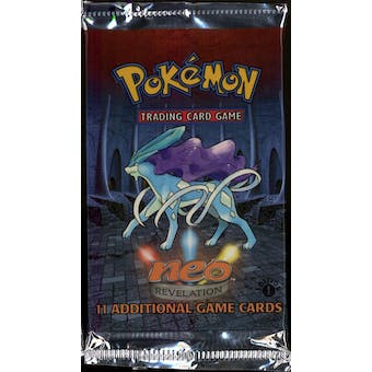 WOTC Pokemon Neo 3 Revelation 1st Edition Booster Pack SUICUNE Art UNWEIGHED