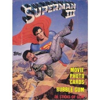 Superman III The Movie Wax Box (1983 Topps)