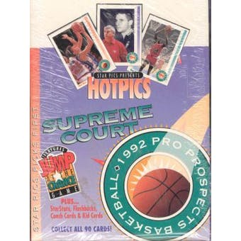 1992 Star Pics Hot Pics Supreme Court Basketball Wax Box