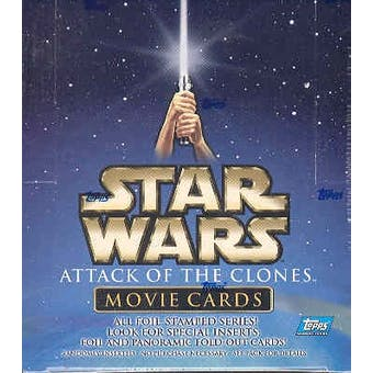 Star Wars Attack of The Clones Movie Cards 36 Pack Box (2002 Topps) (Reed Buy)