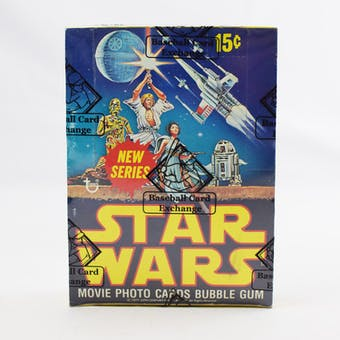 1977 Topps Star Wars 2nd Series Wax Box (BBCE) (Reed Buy)
