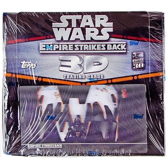 Star Wars Empire Strikes Back 3D Trading Cards 24-Pack Box (2010 Topps)