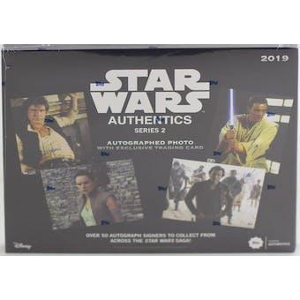 Star Wars Authentics Autographs Series 2 Hobby Box (Topps 2019)