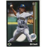 1989 Upper Deck Bill Swift Seattle Mariners Blank Back Black Border Proof