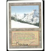 Magic the Gathering 3rd Ed. Revised Single Taiga ARTIST SIGNED - MODERATE PLAY (MP)