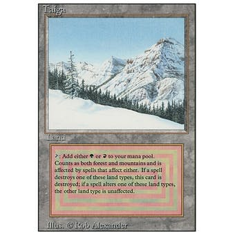 Magic the Gathering 3rd Ed (Revised) Single Taiga - MODERATE PLAY (MP) Sick Deal Pricing