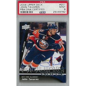 2009/10 Upper Deck Young Gun John Tavares PSA 9 card #201