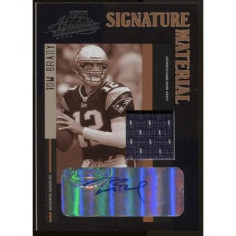 2004 Absolute Memoribilia Tom Brady Auto Patch Card #SM-9 #46/194