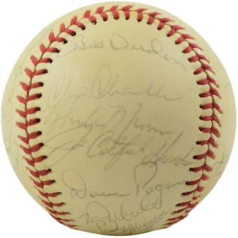 1975 New York Yankees Team Signed OAL Baseball (Thurman Munson / Elston Howard) Full JSA/PSA Letters!!!