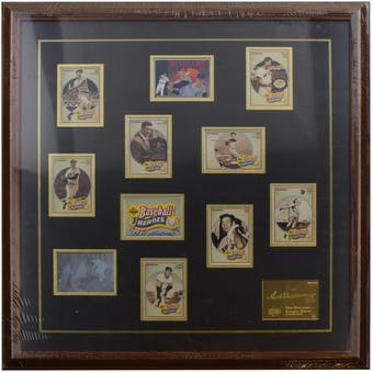 Ted Williams Boston Red Sox UDA Autographed Framed Heroes of Baseball Trading Card Set  LE /406