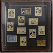 Ted Williams Boston Red Sox UDA Autographed Framed Heroes of Baseball Trading Card Set  LE 09/406