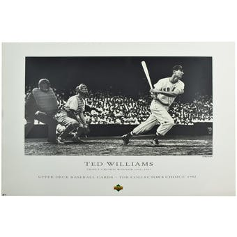 Ted Williams Boston Red Sox Triple Crown Lithograph /12000