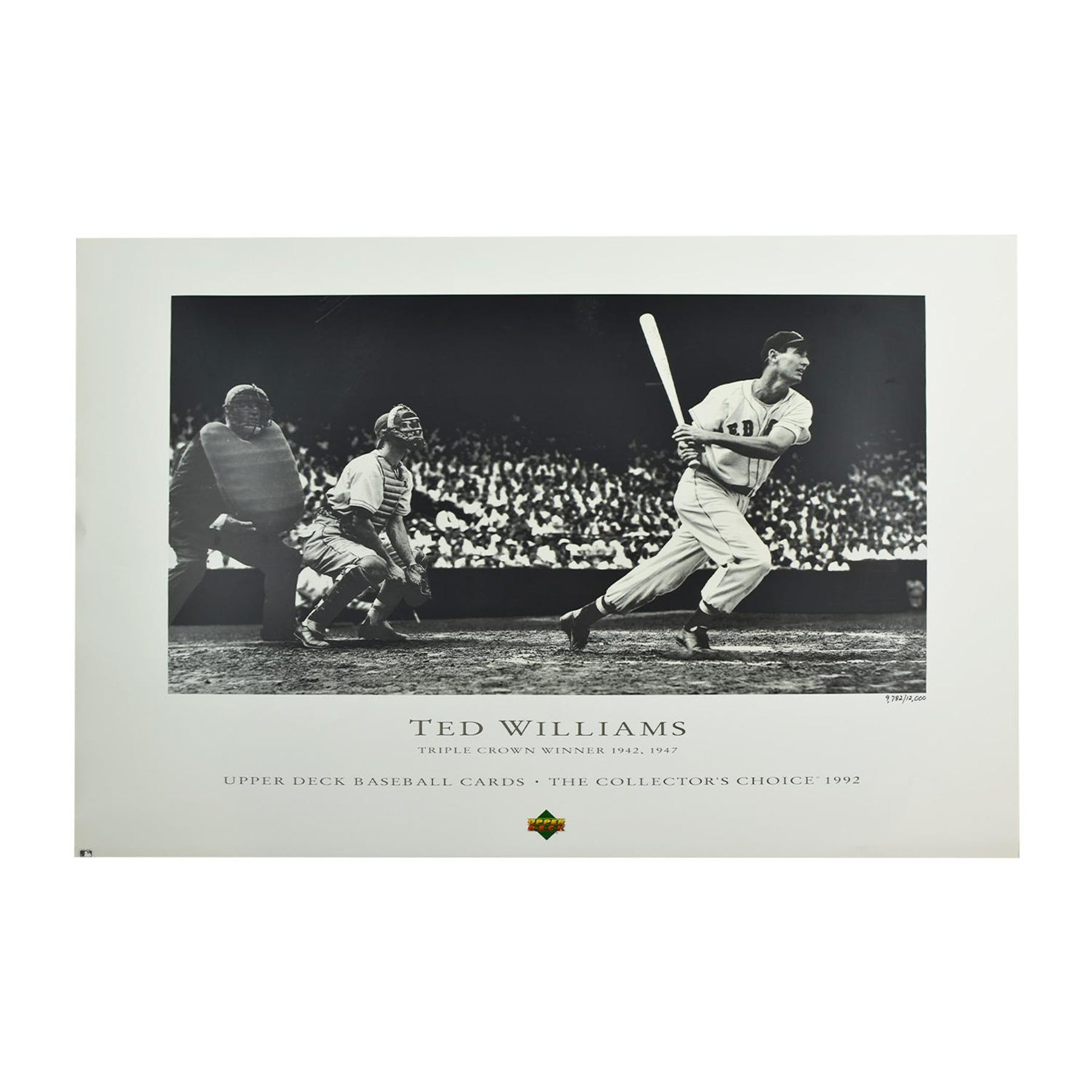 Ted Williams Boston Red Sox Triple Crown Lithograph 12000