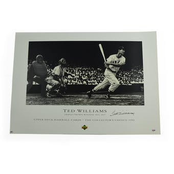 Ted Williams Boston Red Sox Autographed Triple Crown Lithograph /200 PSA