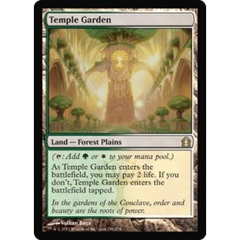 Magic the Gathering Return to Ravnica Single Temple Garden Foil - SLIGHT PLAY (SP)