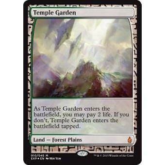 Magic the Gathering Zendikar Expedition Single Temple Garden FOIL - NEAR MINT (NM)
