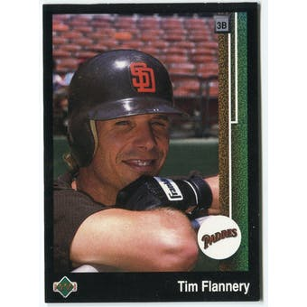 1989 Upper Deck Tim Flannery San Diego Padres #603 Black Border Proof