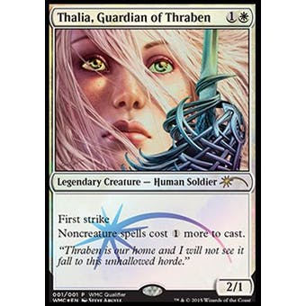 Magic the Gathering WMCQ Promo Single Thalia, Guardian of Thraben FOIL - NEAR MINT (NM)